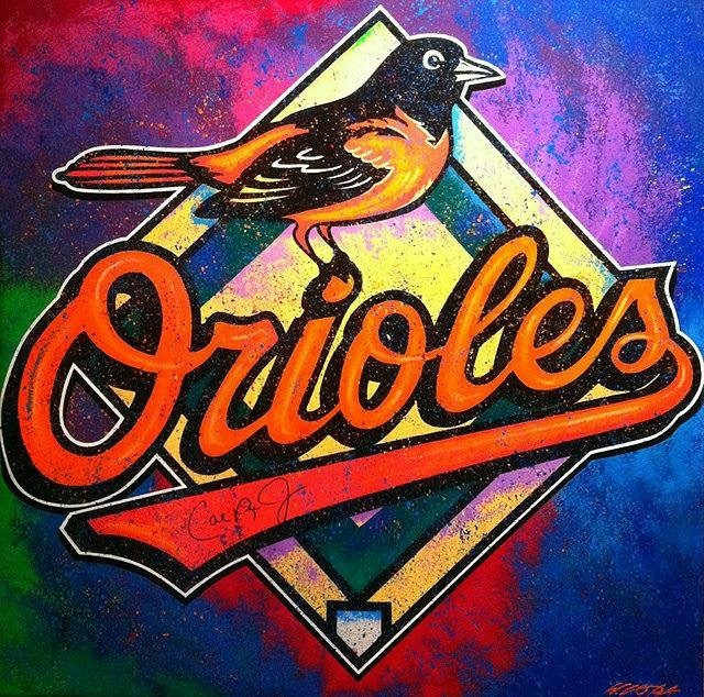 Bill Lopa  'Baltimore Orioles', created in 2017, Original Painting Acrylic.