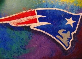 Bill Lopa: 'new england patriots', 2017 Giclee, Sports. Artist Description: New England patriots team logo...
