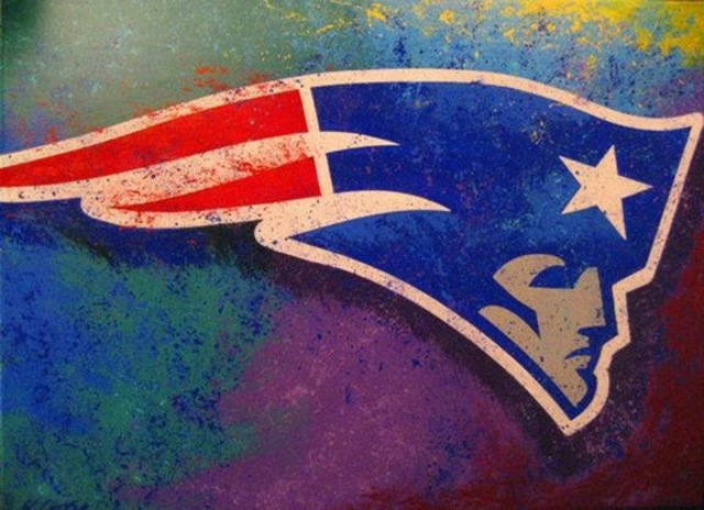 Bill Lopa  'New England Patriots', created in 2017, Original Painting Acrylic.