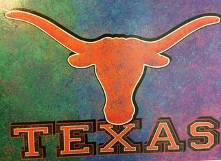 Bill Lopa: 'texas', 2017 Giclee, Sports. Artist Description: Texas team Logo...