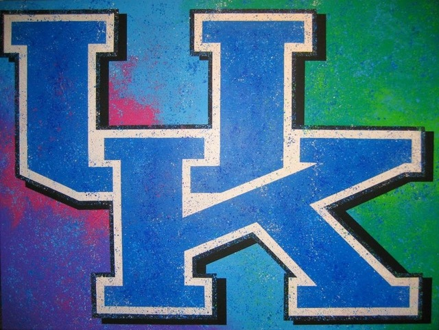 Bill Lopa  'University Of Kentucky', created in 2017, Original Painting Acrylic.