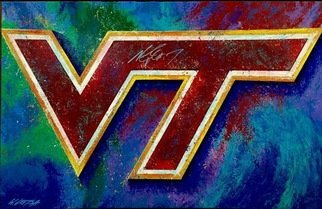 Bill Lopa: 'virginia tech', 2017 Giclee, Sports. Artist Description: Virginia Tech...