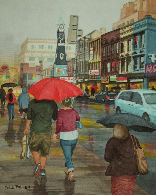 Bill Pullen  'A Rainy Day', created in 2010, Original Painting Acrylic.