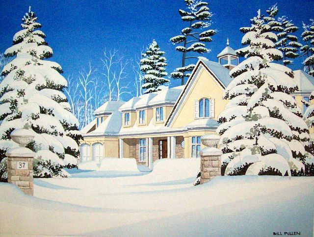 Bill Pullen  'A Winter Scene', created in 2011, Original Painting Acrylic.
