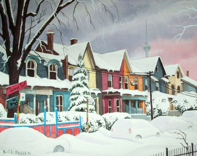 Bill Pullen  'The Colours Of Kensington', created in 2010, Original Painting Acrylic.