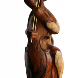 Tzipi Biran Artwork The player, 2012 Wood Sculpture, Music