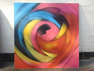 Acrylic Painting by Bizzy Panchal titled: multi colour rose, 2014