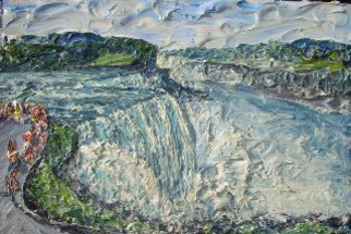 Landscape Acrylic Painting by Brian Josselyn Title: Niagra fall, created in 2007
