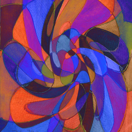 Blanca Ruth Casanova Artwork Flower Sky, 2008 Mixed Media, Abstract