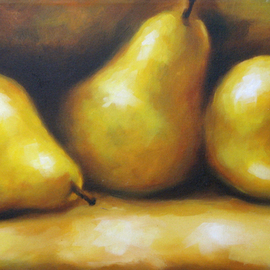 Daniel Blanco: 'pears', 2008 Oil Painting, Still Life. Artist Description:  My work shows fragmented realities and interrupted sequences, a strong confrontation happens between color images and black and white fragments, this causes the paint to go beyond its own limits.  ...