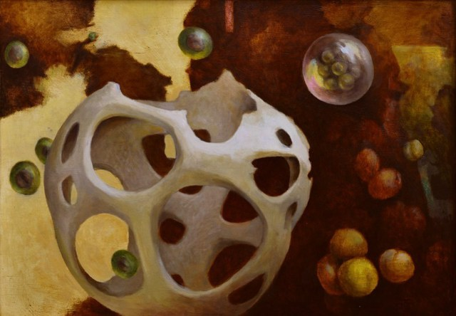 Bernd Finkenwirth  'Empty Basket', created in 2009, Original Painting Oil.