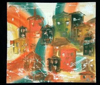 Boban Popov: 'Town', 2016 Acrylic Painting, Abstract. Artist Description:  Town, painting acrylic, abstract. ...