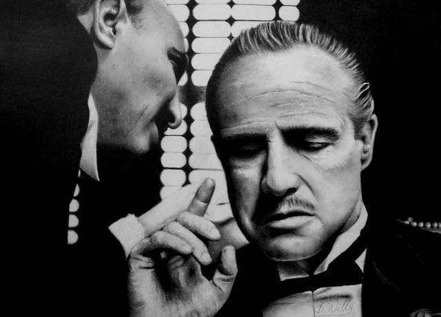 Vasile Boghici  'The Godfather', created in 2017, Original Drawing Pencil.