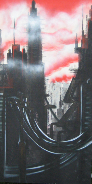 Helge W. Steinmann A.k.a. Bomber  'City', created in 2008, Original Painting Other.