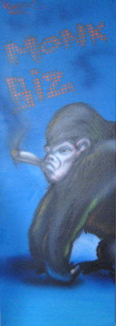 Helge W. Steinmann A.k.a. Bomber  'Monkey Biz', created in 2009, Original Painting Other.