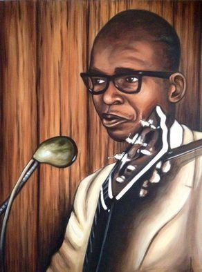 Bonie Bolen: 'Elmore James', 2015 Acrylic Painting, Music.  Original not for sale but color prints available. ...