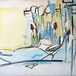 Bonie Bolen: 'ICU', 2000 Other Painting, Abstract Figurative.