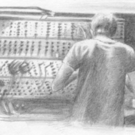 Bonie Bolen Artwork Johnny Greenwood, 2003 Pencil Drawing, Music