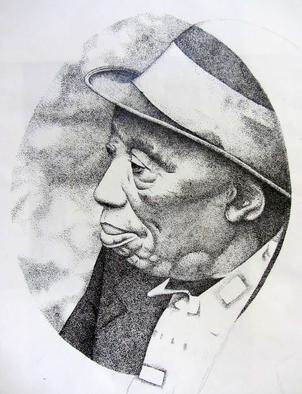 Bonie Bolen: 'Mississippi John Hurt', 1999 Pen Drawing, Music.          Commissioned portrait of Mississippi John Hurt for The Blues, Jazz and Folk Music Society, Marietta, OH Original not for sale but please inquire if you would like to have a print.         ...