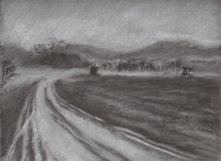 Bonie Bolen: 'New Years Day drive', 2004 Pastel, Landscape.      Colored pastel drawing on colored paper.      ...
