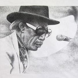 Bonie Bolen Artwork Professor Longhair, 2002 Pen Drawing, Music