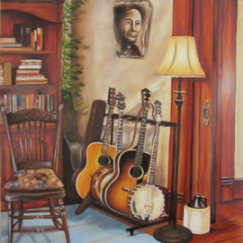 Bonie Bolen: 'So Long Its Been Good To Know You', 2015 Oil Painting, Music.
