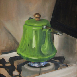 Bonie Bolen: 'Tea Pot', 2000 Oil Painting, Still Life.