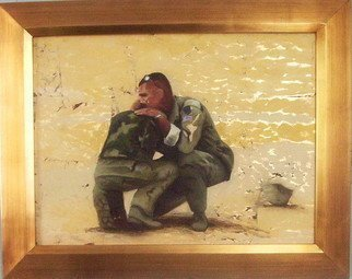 Military Oil Painting by Bonie Bolen titled: The Cost, created in 2008