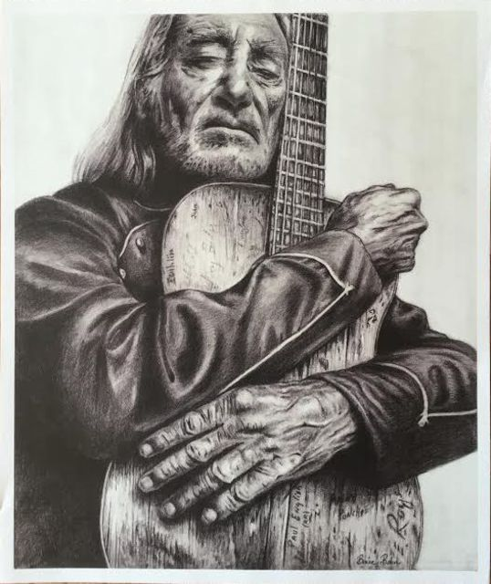 Bonie Bolen  'Willie Nelson And Trigger, Small Print ', created in 2016, Original Collage.