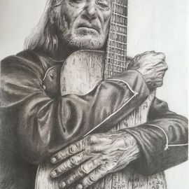 Willie Nelson and Trigger , large print  By Bonie Bolen