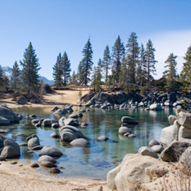 Bonnie Rannald: 'Sand Harbor Cove', 2009 Color Photograph, Landscape. Artist Description:  An intimate cove at Lake Tahoe' s Sand Harbor invites one to stay awhile and commune with nature. ...