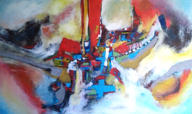 Bore Minov  'Worldwide Roads', created in 2009, Original Painting Oil.