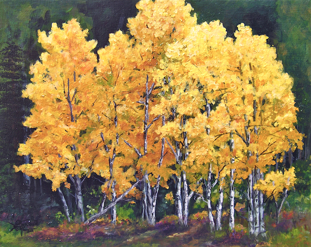 Artist Migdalia Caban. 'Aspens Majesty IV' Artwork Image, Created in 2011, Original Painting Oil. #art #artist
