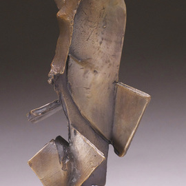 Robert Pulley Artwork Listener, 2011 Bronze Sculpture, Abstract