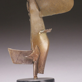 Robert Pulley: 'Little Grace', 2012 Bronze Sculpture, Abstract Figurative. Artist Description: Abstract Bronze sculpture on a black marble base.  Table or pedestal scale.  Modern.  black and brown patina.  ...