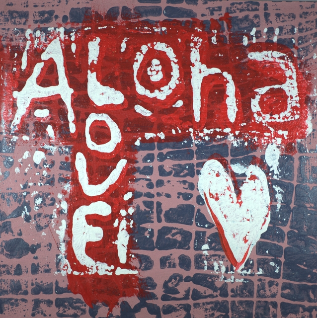 Robert Gann  'Aloha Love 2', created in 2020, Original Printmaking Other.