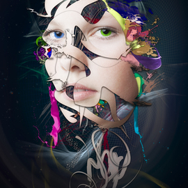Abstract Portrait No 10 By Erik Brede