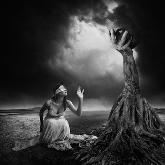 Erik Brede Artwork is there anybody out there, 2013 Black and White Photograph, Conceptual