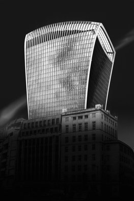 Erik Brede Artwork looney tunes city, 2017 Black and White Photograph, Architecture
