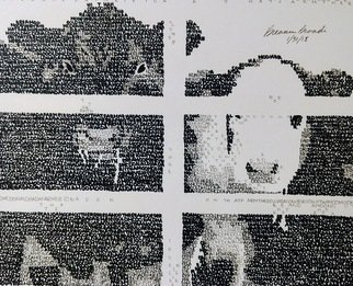 Breanna Broadie: 'mcdonalds cows', 2018 Calligraphy, Animals. Artist Description: Created with the words from the nursery rhyme aEURoeOld McDonald Had a FarmaEURPart of the McDonald Collection ...