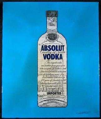 Collage by Ralph Michael Brekan titled: Absolut Vodka, 2005
