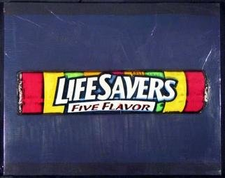 Collage by Ralph Michael Brekan titled: Lifesavers Candy, created in 2005