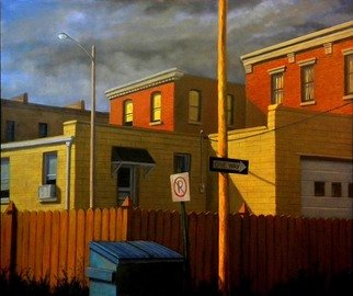 Christopher Brennan: 'Alley Dream', 2012 Oil Painting, Cityscape.