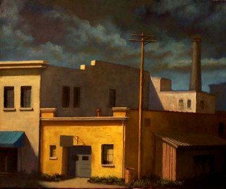 Christopher Brennan: 'Meat Packing Plant', 2011 Oil Painting, Cityscape.