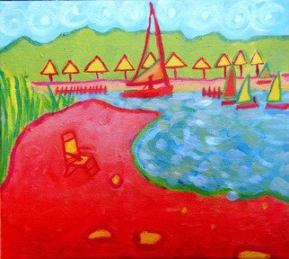 Artist: Debra Bretton Robinson - Title: Chappaquidick Beach Club - Medium: Acrylic Painting - Year: 2010