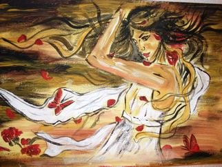 Socobean Cristina: 'Autumn', 2010 Tempera Painting, Beauty. Artist Description:  tempera on canvas ...