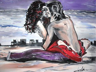 Socobean Cristina: 'Loving You', 2011 Tempera Painting, Love. Artist Description:             tempera on canvas           ...