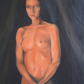 Brett Roeller: 'anna', 2010 Oil Painting, Nudes. Artist Description: Oil on Canvas, 11- 14  Liquin Vanished...
