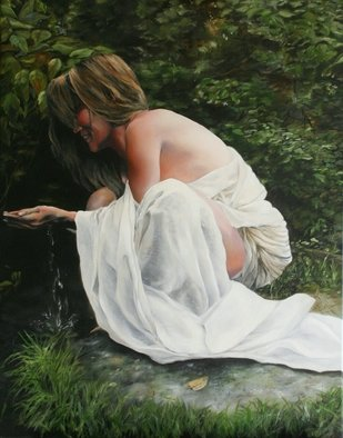 Brett Roeller: 'i hear music in the water', 2011 Oil Painting, Romance. Artist Description: Oil on Canvas, 22- 30  Oil on Canvas Damar Varnished...