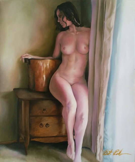 Brett Roeller  'Waiting', created in 2011, Original Painting Oil.